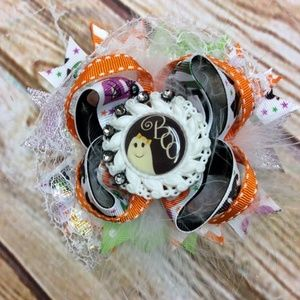 NEW HANDMADE Over the Top Boo Halloween Hair Bow